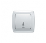 Выключатель 1-клавишный с подсветкой (бел.) Viko Carmen