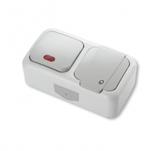 Выключатель 1-клавишный с подсветкой+Розетка с заземлением Viko Palmiye