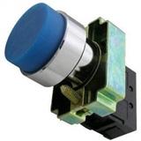 Кнопка BL61 без подсветки синий 1з TDM